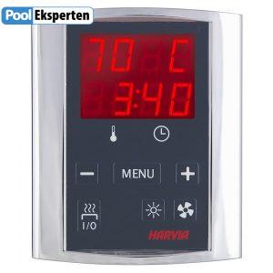 Harvia elektronisk termometer og tid