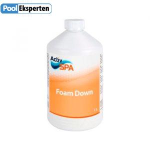 ActivSpa Foam Down reducerer skum i spa og udespa
