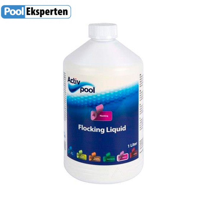 Flocking Liquid - Flydende flokmiddel til poolen