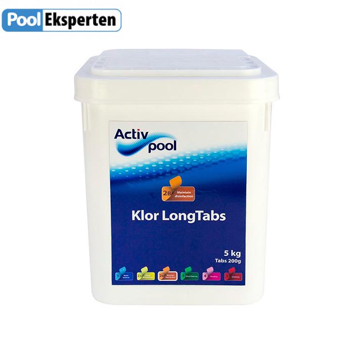 Klor Long Tabs - langtidsvirkende klor tabletter til poolen