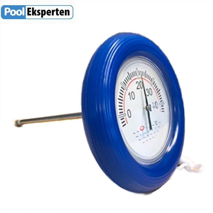 Stort flydende termometer til poolen