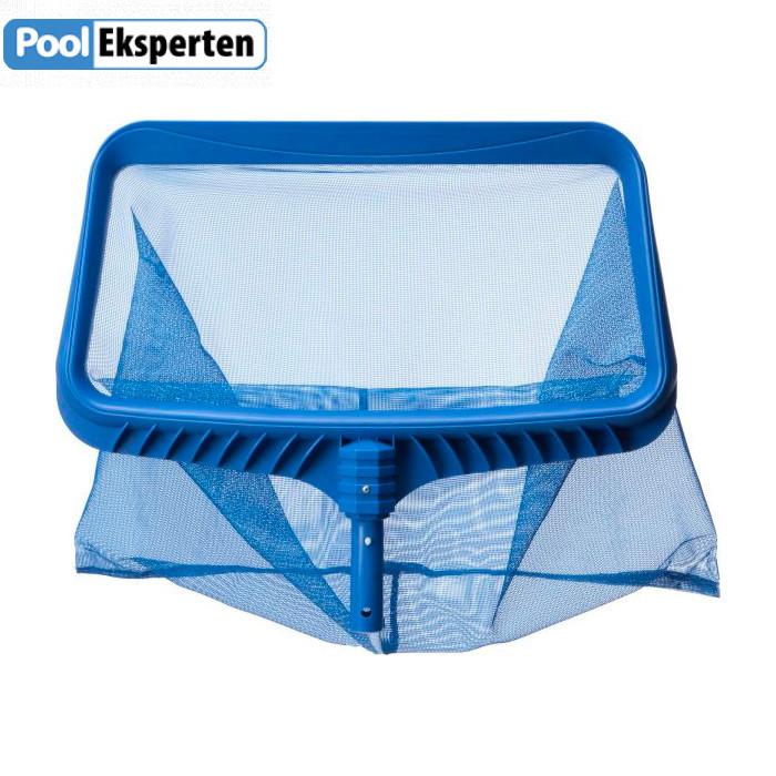Bundnet til rengøring af pool med plastik ramme.
