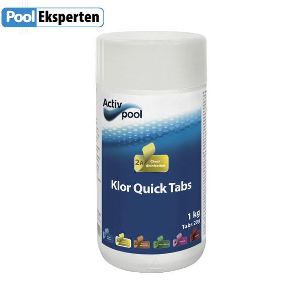 Klor Quick Tabs til sikker desinfektion af poolvand