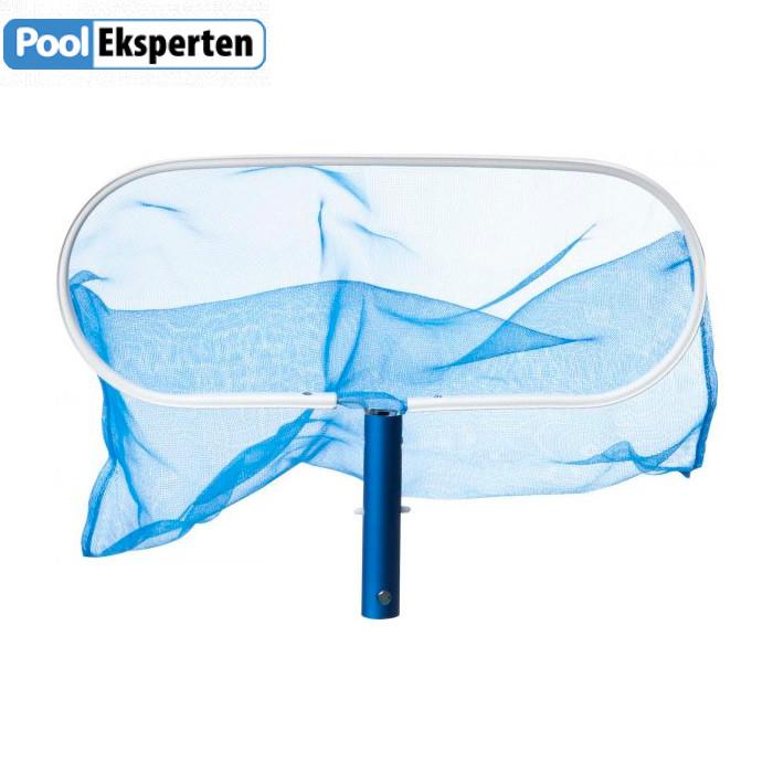 Bundnet til rengøring af pool med aluramme