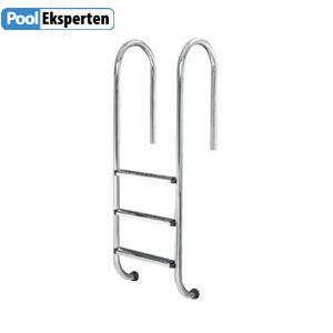 Stige til pool med fire trin og buet gelænder i smal design