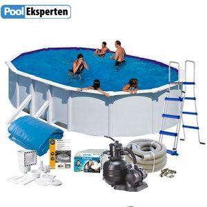 Den ovale stål pool er et fantastisk alternativ til en nedgravet pool og en billigere pool uden at gå på kompromis med kvalitet.