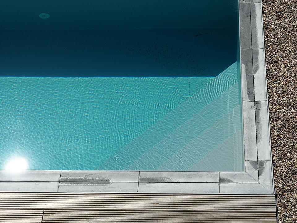 PP Pool med hjørnetrappe