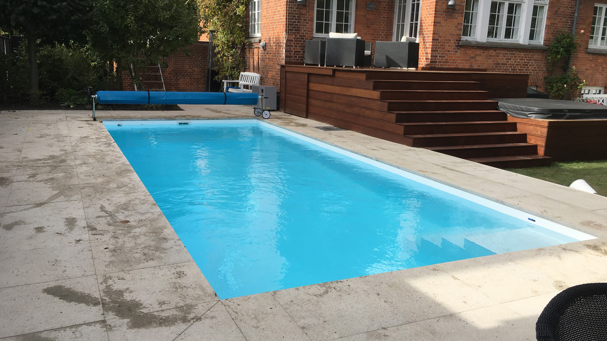 Pool med termocover