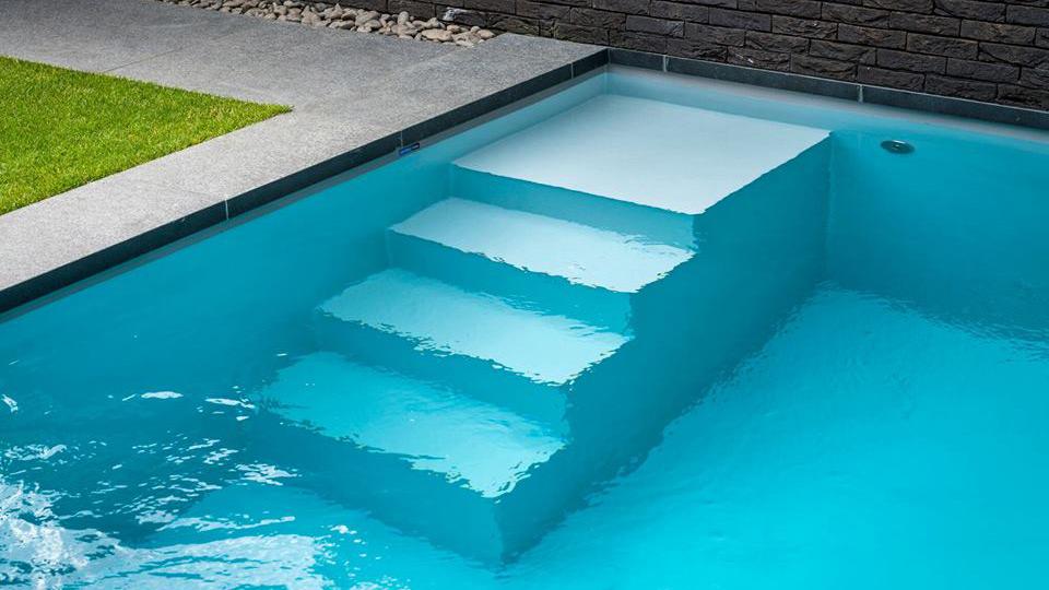PP pool med trappe