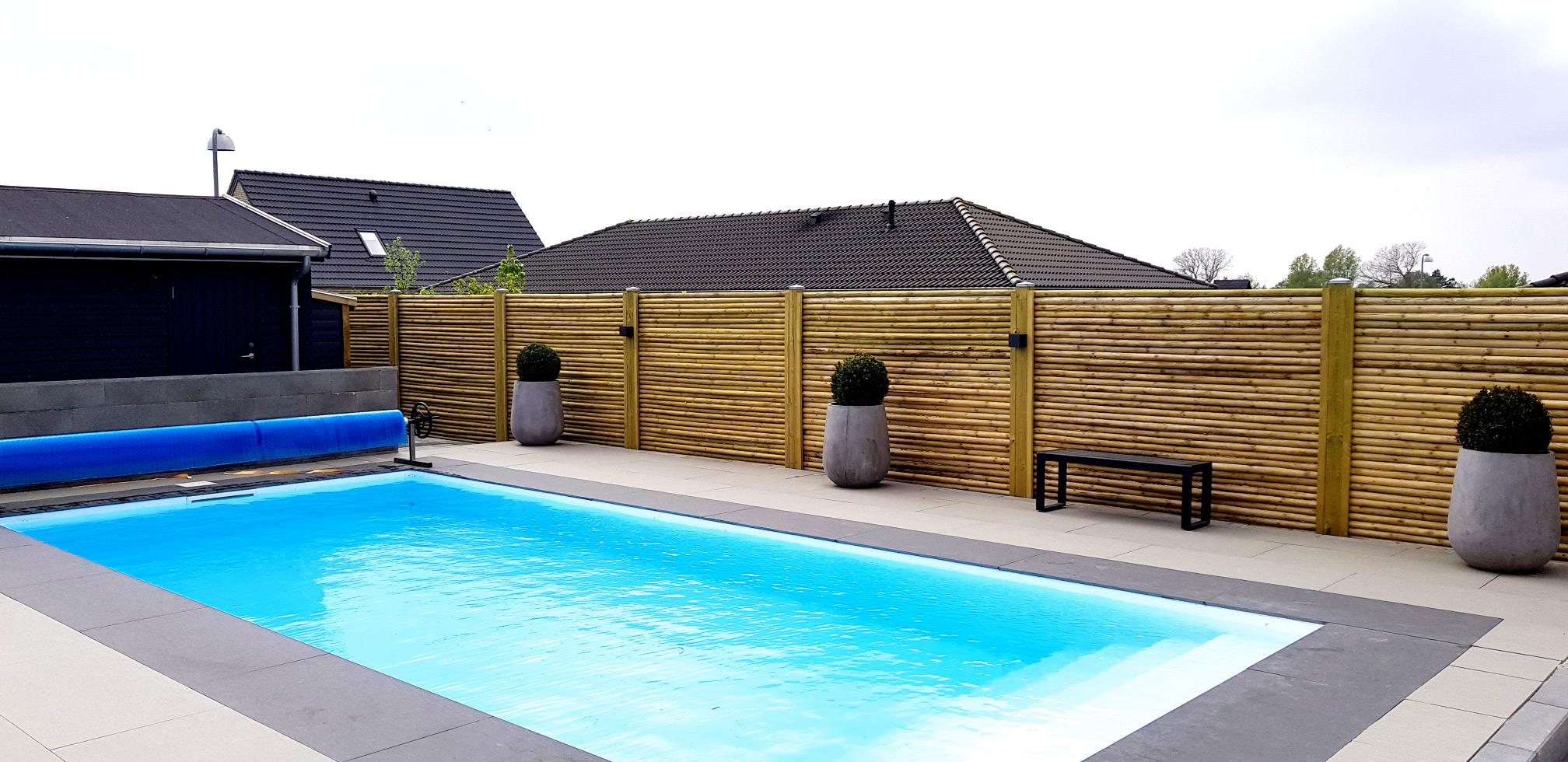 Lækker PP swimming pool i Roskilde etableret af Pool Eksperten