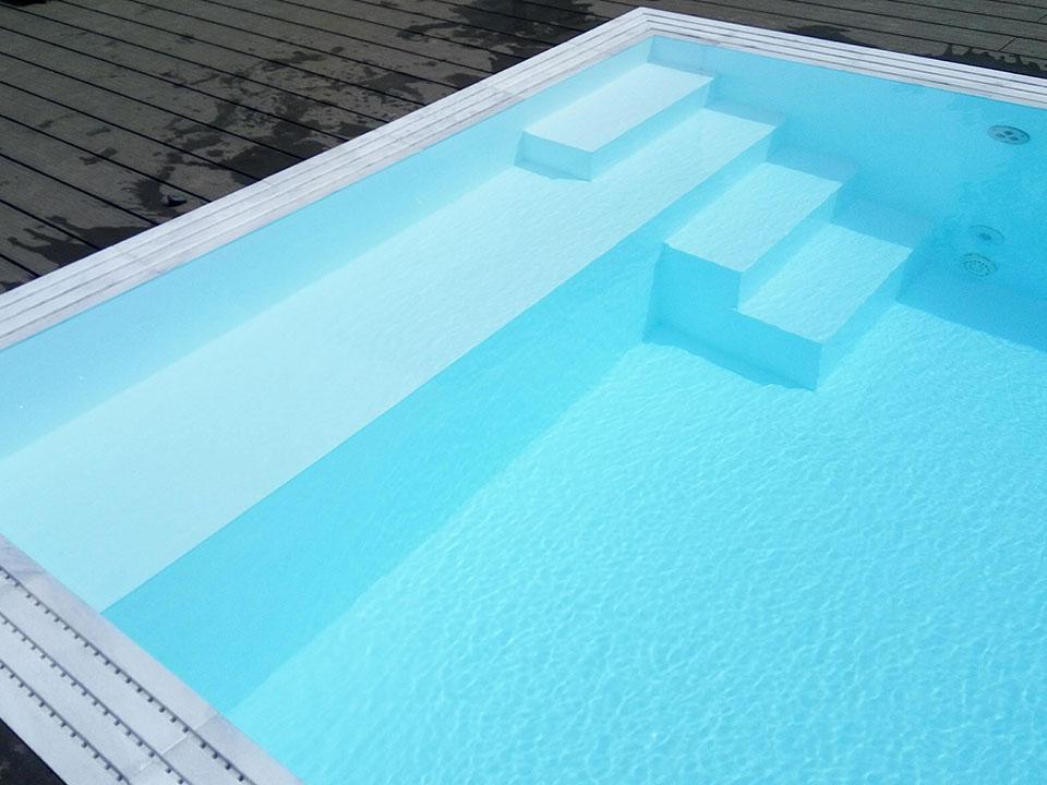 PP pool med trappe og bænk