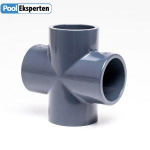 Kryds i kraftig PVC godkendt til klor- og saltvand