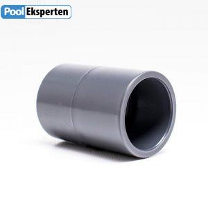 Muffer i kraftig PVC godkendt til pools med klor og saltvand