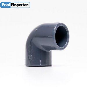 PVC vinkel 90 gr. godkendt til brug i klor- og saltvands pool