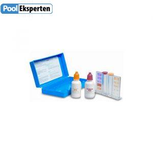 Testdråber til måling af klor og pH i poolen