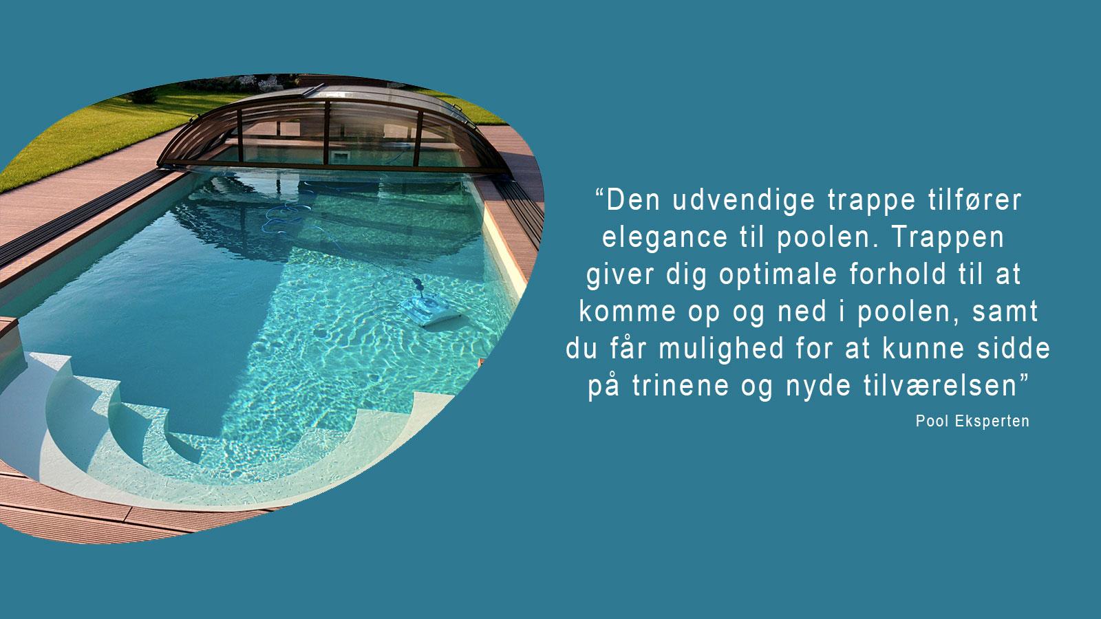PP pool udvendig trappe billede med citat