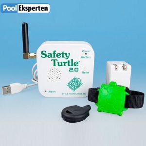 Poolalarm til børn - øger sikkerheden omkring poolen - Safety Turtle 2.0
