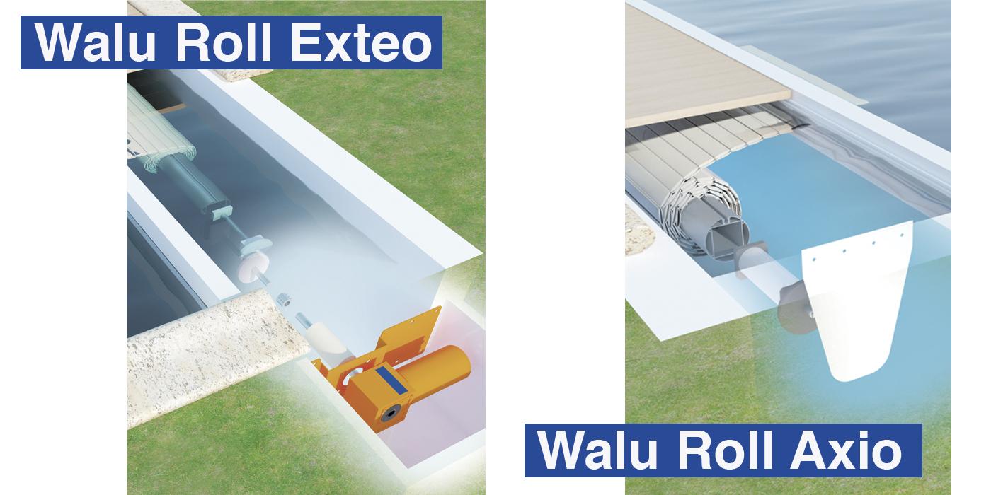 Walu Roll Exteo og Axio lamelcover til swimmingpools