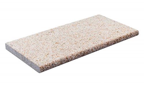 Kiruna poolkantflise i farven Soft Sand