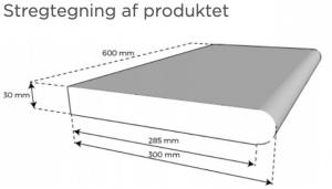 Tværsnit af Kiruna poolkantflise