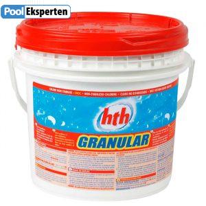 HTH Klor granulat 10 kg ustabiliseret. Drikkevandsgodkendt klor til swimmingpools
