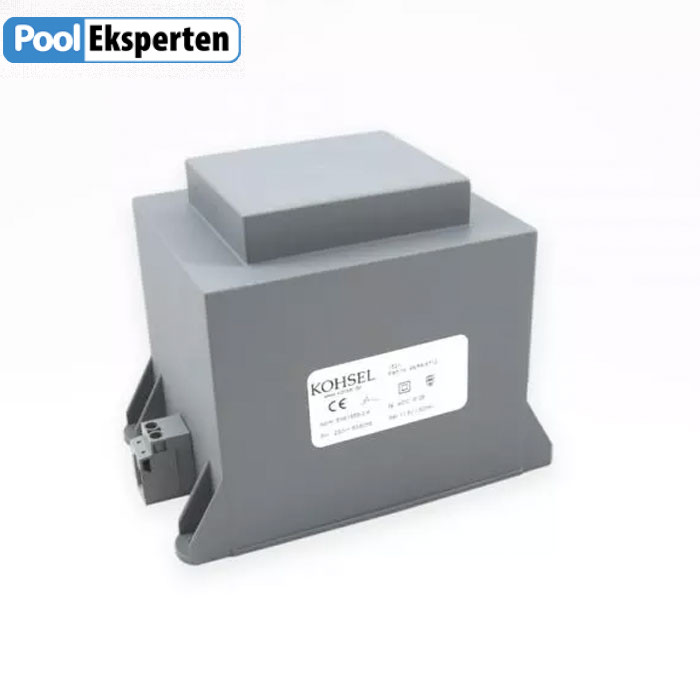 Transformer 300VA 230/12V. Velegnet frafo til RGB multicolor pool lamper