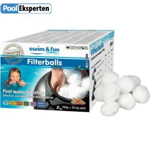 Filterballs - filterkugler kan erstatte sand i filtret og har gode filtreringsevner